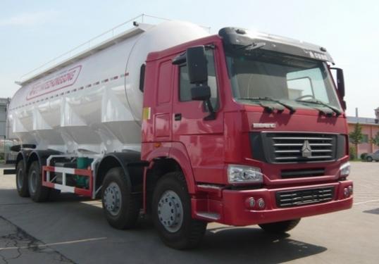 亚特重工TZ5317GFLZW8平顶散灰40立方粉粒物料运输车