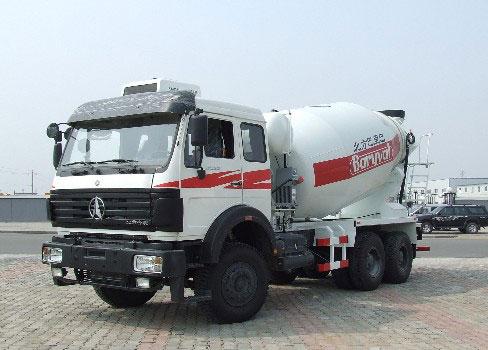 内蒙古北方重工BZ5253GJBNB/BZ5253GJBNA/BZ5254GJBNA/BZ5313GJBNA型混凝土运输车