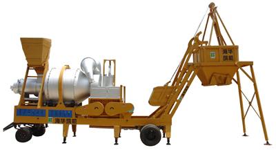 海华筑机YQL系列移动强制式沥青混凝土搅拌设备