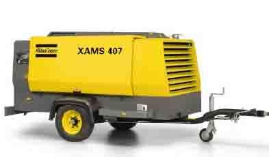 阿特拉斯·科普柯单轴喷油螺杆移动式空压机8.6-14 bar(125-200 psig)