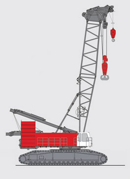抚挖QUY400 液压履带式起重机