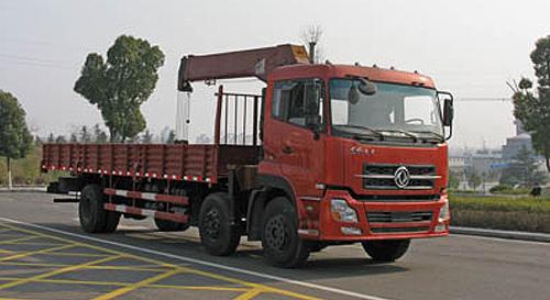 程力东风天龙小三轴随车起重运输车-DFL1253AX