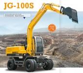 劲工100S轮式挖掘机自动挡液压行走