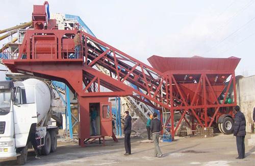 鸿达YHZS40移动式混凝土搅拌站