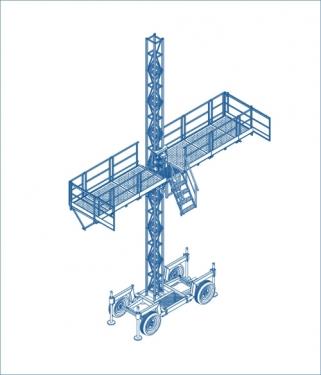 川建SCP100施工升降平台