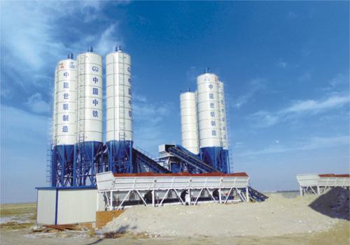 中建机械环保节能混凝土搅拌站90m3混凝土搅拌站