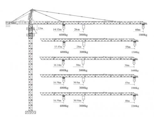徐工XGT(6010Fz-6)塔顶式塔机