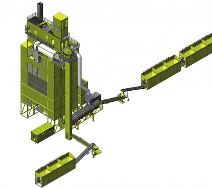 林泰阁CSM5000集装箱式沥青混凝土搅拌站