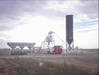 陕西科尼乐HZS75混凝土搅拌站