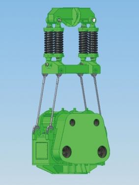 上海振中DZP600型免共振变频振动桩锤
