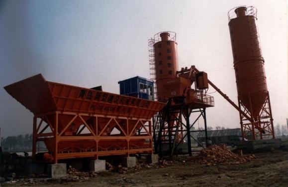 新型HZS50混凝土搅拌站