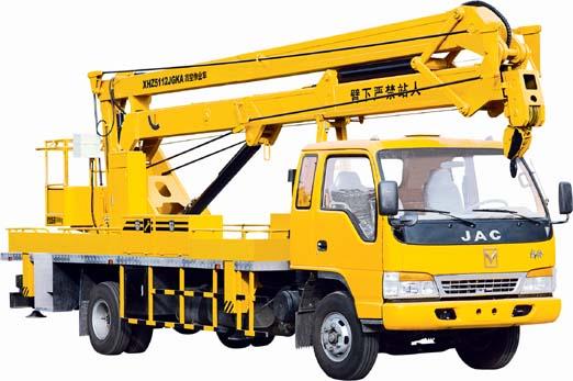 海伦哲XHZ5054JGKZ江铃14米折叠臂高空作业车