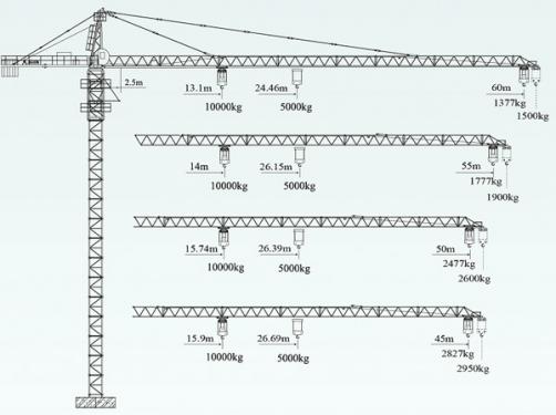 徐工QTZ125(6015L-10)塔顶式塔机