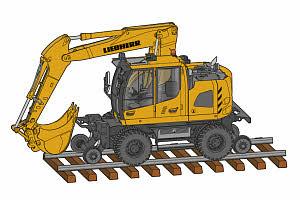 利勃海尔A 922 Rail Litronic轮式挖掘机