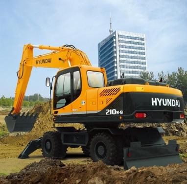 现代R210w-9轮式挖掘机