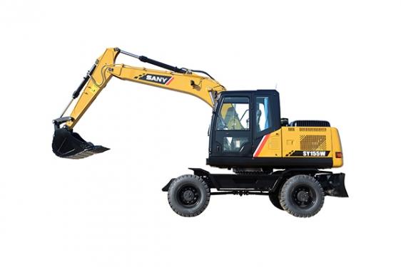 三一重工SY155W全液压轮胎式挖掘机