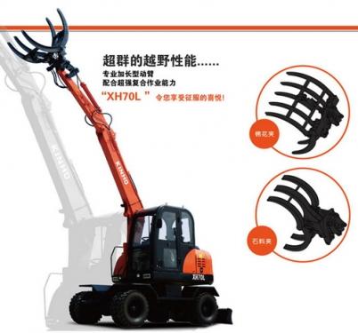 鑫豪XH70L轮胎式多功能抓夹装卸机