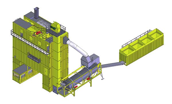 林泰阁CSM2500集装箱式沥青混凝土搅拌站