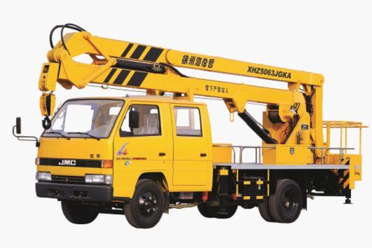 海伦哲XHZ5063JGKA江铃16米/17米 折叠臂高空作业车