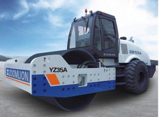 中联重科YZ35A全液压单钢轮压路机