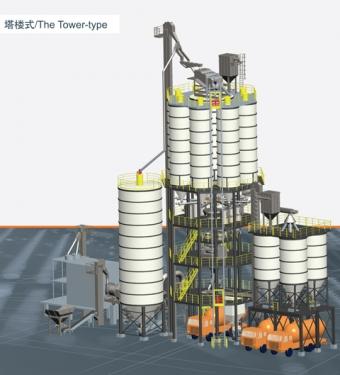 铁拓机械GHX(T)塔楼式干混砂浆成套设备