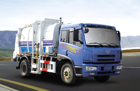 青岛解放J5M4x2压缩垃圾车