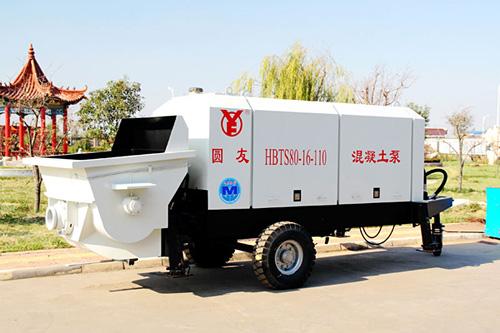 圆友重工HBTS80混凝土柴油机输送泵