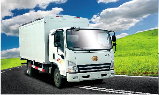 青岛解放虎V 4×2大柴CA498E3—1 2厢式车