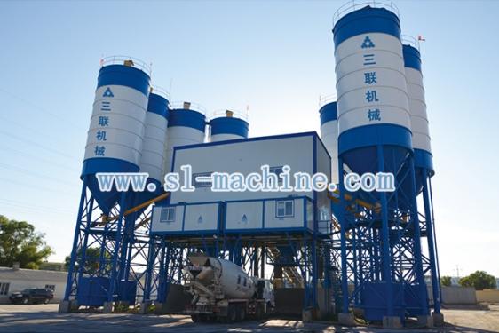 三联机械HZS180商品混凝土搅拌站