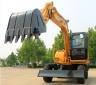 恒特HTL85-8轮式挖掘机