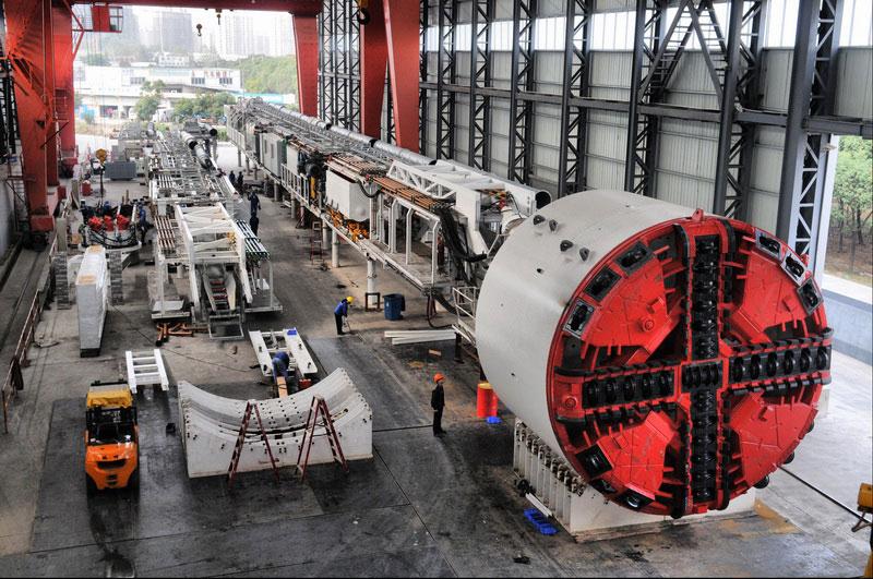 徐工φ6.45米复合式土压平衡盾构机盾构机械高清图 - 外观